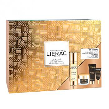 Lierac PACK Premium la Cura Inyección De Juventud 28 Días, 30ml+REGALO Mascarilla, 10ml+Crema Voluptuosa, 15ml+Contorno Ojos, 3ml