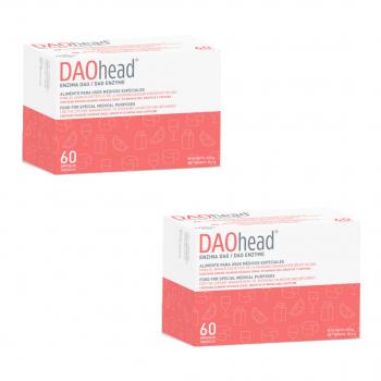 Daohead con cafeína 60 cápsulas con pellets gastrorresistentes pack 2 unidades (antes migrasin)
