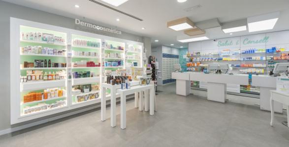 Interior Farmàcia de la Platja Cubelles