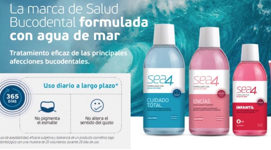 Productos de higiene bucal con agua de mar