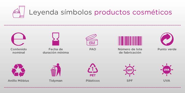 Información envases cosméticos